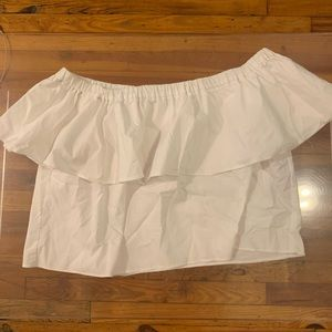 White top shop ruffled off the shoulder top